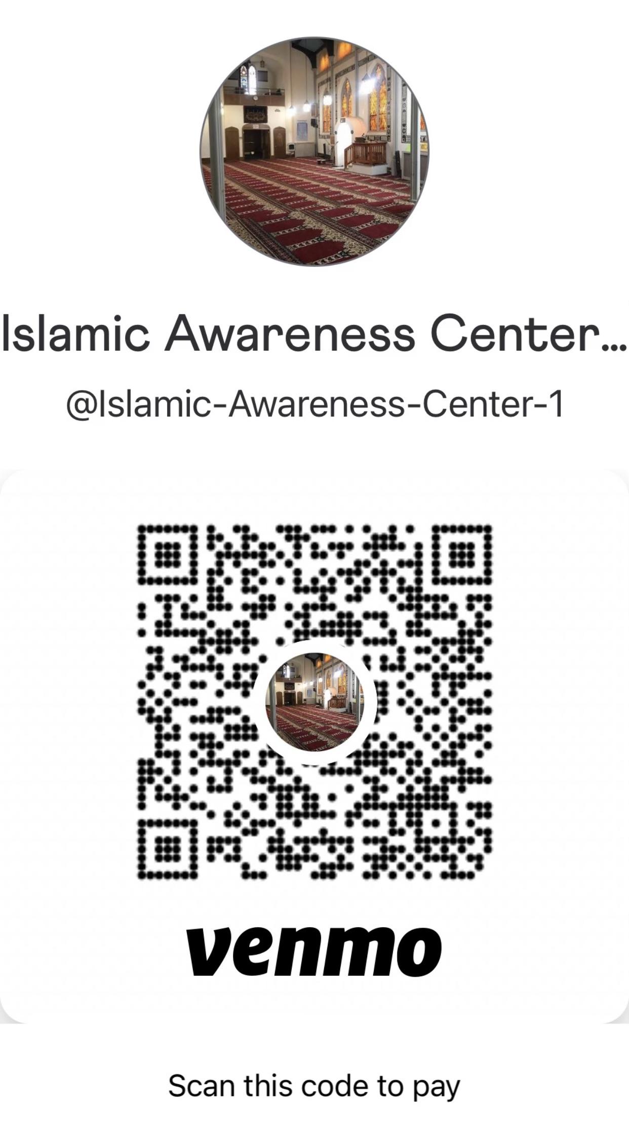 Venmo qr code, @islamic-awareness-center-1